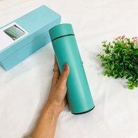الترمس الإبداعي الفاخرة الذكية ميزان الحرارة الكؤوس الصمام عرض درجة الحرارة هدية الأعمال الحرارية كوب زجاجة المياه غلاية الترمس