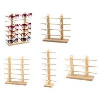 Multi Livelli Occhialole da sole in legno Display Rack Shelf EyeGlasses Show Stand Gioielli Holder per Multi Pair Occhiali Vetrina