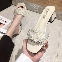 Sandals 2021 Brand Design Women Elegant Square Sandaly Toe Thin High Heels 5CM Summer Outdoor Beach Shoes Gladiator Ladies