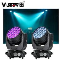 EURO NUEVOS LLEGADAS 2 UNIDS CON CASO AURA 19x15W RGBW 4IN1 Lavado de viga con zoom LED DMX DJ Mover Head Light para la barra de discoteca