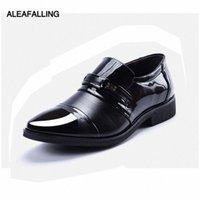 AleaFalling Patchwork 통기성 남성 공식 신발 포인트 발가락 특허 가죽 옥스포드 신발 웨딩 남자 드레스 비즈니스 MDS22 A9HK #