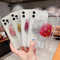 Quicksand Glitter Sequins Acrylic Phone Cases For iPhone 12 11 Pro Max 7 8 Plus XSMax XR X Mini Samsung S10 S20 S21 Note Wine Glass Clear Cover