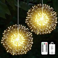 200 Leds String Lights Remote Control Waterproof Dandelion Firework LED Copper Wire Firework Fairy Lamp For Christmas Decoration