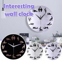 Wall Clocks Sexy Clock Male Acrylic Decorative Mirror Art Fun Room Decoration Decor 2021