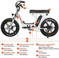 Addmotor MOTAN M66 R7 Electric Bike Scooter Step Through 20 inch Fat Tire 750W Motor EBike Removable 11.6Ah Lithium Battery Throttle Pedal Assist