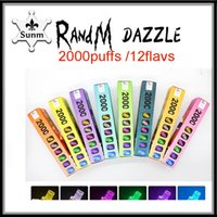 Original RandM Dazzle Pro Rechargeable cigarette Device Kit empty 6ml 2600Puffs With Led Light Glowing Disposable Vape VS PUFF PLUS BANG XXL air bar max