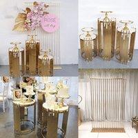 Grand Event Backdrops Sobremesa Floral Display Decoração Do Casamento Metal Plinth Mesa De Fundo Arco Para Festa De Aniversário Estágio Bolo Flores Artesanato Balões Holder