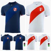 2021 2022 Peru Futbol Forması Ev 21 22 Futbol Gömlek Camiseta Futbol Maillot De Farfan Flores Guerrero Camisa Futebol