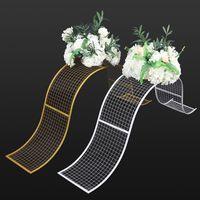 Cornice in metallo onda fiore cornice di alta qualità telaio per la decorazione della tavola del partito di nozze della parete del fiore di DIY 15 V2