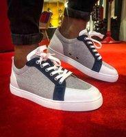 هايت الجودة الكلاسيكية جلد طبيعي أحمر أسفل الصغار حذاء رياضة Rantulow أورلو الرجال شقة منخفضة قطع باطن الأحمر سكيت أحذية المشي المدربين