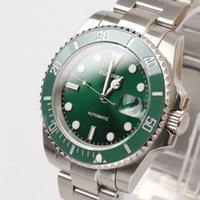 Men watches Luminous Water proof Green ceramic bezel Automatic movement Sapphire glass Green face Wristwatches