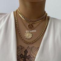 Jh الشرير ميامي كوبا المختنق قلادة steampunk الرجال مجوهرات خمر كبير عملة قلادة مكتنزة المختنقون سلسلة قلادة للنساء الرقبة الملحقات