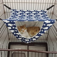 Cat Beds & Furniture Hanging Hammock Double Layer Kitten Puppy Sleeping Bag Warm Bed Mat House Cage Pet Supplies