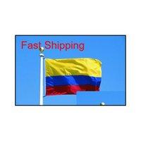 Kolombiya Cumhuriyeti bayrak afiş 3x5ft Kolombiya Columbia Columbian Güney Amerika Polyester hayranları tezahürat bayrakları 90x150 cm pyrpg 2wrya