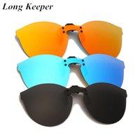 Sonnenbrille 2021 Mode Übergroße Polarisierte Clip auf Männern Frauen Flip Up Linse Fahren Sonnenbrille Gelbe Auto Nacht