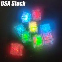 LED Ice Cubes Gloeiende Party Ball Flash Licht Lichtgevende Neon Bruiloft Festival Kerst Bar Wijnglas Decoratie Benodigdheden