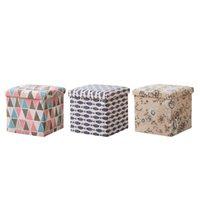 Sgabello pieghevole quadrato Sgabello ottomano Box Benco da tavolino da caffè
