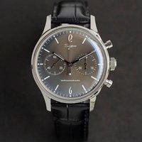 Armbanduhren Möwe Bewegung siglieren mechanische chronographen uhr 5bar wasserdichte leuchtende uhr für männer luxus casual montre homme luxe