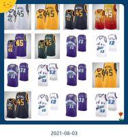 Basketball Jersey45 Donovan Mitchell12 John Stockton32 Karl MaloneBasketball Jersey