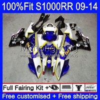 Injection Mold Fairings For BMW S 1000RR S1000-RR S1000RR 09 10 11 12 13 14 Bodywork 1No.14 S 1000 RR S1000 RR 2009 2010 2011 2012 2013 2014 OEM Blue blk White Bodys kit
