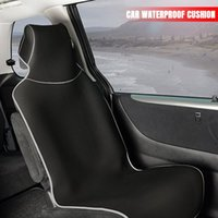Car Seat Covers Protector Waterproof Auto Mat Pad Chair Full Cover For Car, Truck, Van Runners, Yoga, Beach, Workout Red Gray