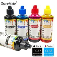 Gracate Ink Refill Kit PG37 CL38 متوافق مع Canon for Pixma IP1800 1900 2500 2600 MP140 190 210 220 470 MX300 310 طابعة