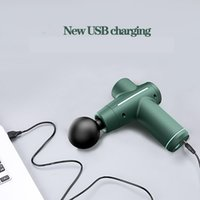 New 4 heads USB Mini massage Gun Full Body Massager Gym Muscle Relief Pain Lactic Acid Mute Brushless Motor High torque