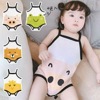 Newborn Rompers Baby Bodysuits Clothes Toddler Girls Boys Onesies Cartoon Cotton Summer Infant Jumpsuit One Piece Clothing B6170