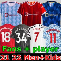Jogador versão 2020 2021 Manchester finals soccer jersey UNITED CAVANI UTD VAN DE BEEK B. FERNANDES RASHFORD camisa de futebol 20 21 homem + kit crianças