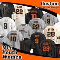 2020 Buster Posey Baseball Jersey San Francisco Brandon Crawford Kevin Säule Yastrzemski Longoria Gürtel Jersey Männer Frauen Jugend 05