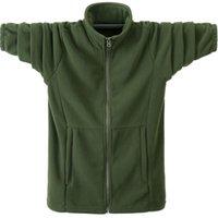 Autumn Winter Men Casual Hoodies Sweatshirt Jacket Male Fleece Warm Army Green Windbreaker Large Size Soild Coats 6XL