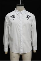 Men's casual shirt elastic slim fit for a variety of places suitable fors portable shirts B018