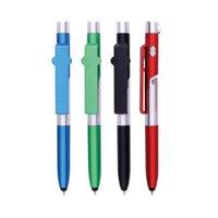 Tükenmez Kalemler 13.5 cm Kalem Çok Fonksiyonlu Led Işık Katlanır Telefon Tutucu Gece Okuma Ödev Öğrenci Okul Kırtasiye