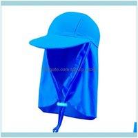 Agua al aire libresun sombrero niños y niñas niños verano deportes al aire libre protector solar lindo niños playa a prueba de sol para bebé sombreros sólidos nadando gorras