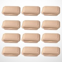 Dinnerware Sets 50pcs 600ml Disposable Containers Paper Takeout Box Eco-friendly Lunch Doggy Boxes