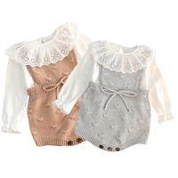 Body Baby-Body Body Autumn Enfant Neuf-Nuaffinés Romper en laine en laine Baby Romper pour Garçons Combinaison bébé Vêtements bébé Toddler Vélo 210315