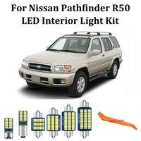 13pcs 1996-2004 Nissan Pathfinder R50 LED 인테리어지도 돔 트렁크 라이트 + 번호판 조명 키트