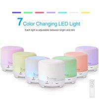 Duftlampen USB 2358YK 5V 4,5w 120ml Aroma Diffusor Weißer Kunststoff mit schwarzer Fernbedienung Buntes Licht