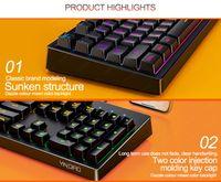 K200Metal 2021Mechanical Touch Game Keyboard Cable Desktop Laptop luminous External USB