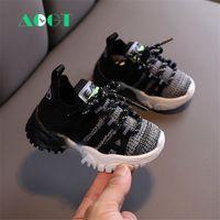 Aogt осень детская обувь младенческая малыша обувь мода дышащие вязальные ходунки обувь мягкие удобные кроссовки ребенка 201026