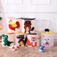 Yeni Çocuk Karikatür Oyuncak Depolama Sepeti Katlanır Çamaşır Sepeti Çocuk Katlanabilir Giyim Saklama Kutusu Çocuk Oyuncakları Organizatör Depolama Namlu T500487
