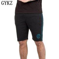 Short de Hommes Gykz Mens 2021 Summer Hommes Beach Cargo Simple Lettre Solide Boardshorts Solide Brand Courte Casual Fitness