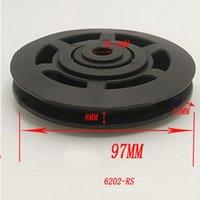 Universallager 97mm Nylonscheibe Rad Kabel Gym Fitnessgeräte Durable Kunststoffteile Universalgröße