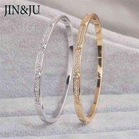 Jinju Gold Color Charm BraceletsBangles para mujeres Regalo de cumpleaños Coporte Cubic Cubic Cuff Braclet Femme Dubai Joyería de moda