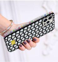 럭셔리 크리 에이 티브 블링 쉘 패턴 다이아몬드 범퍼 전화 케이스 아이폰 13 12 미니 11 프로 XR xs 최대 x 8 7 6 SE2 플러스 최신 TPU PC 여성 소녀 다채로운 화려한 커버