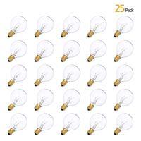 Tomshine 25 pcs 7w ac230v g40 globo tungstênio lâmpada incandescente lâmpada e12 titular de soquete base ip44 resistência à água quente branco