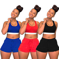 Summer Donne Vestiti Donne Due pezzi Set Tracksuit T-shirt sportswear + Shorts Sportsuit New Hot Selling Stampa moda KLW0593