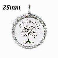 Pendentif Colliers 26 Options My Family Tree Aimant 25mm AVEC CRISTAUX PARFUME ESSENTIEL DIFFUSEUR Collier de médaillon
