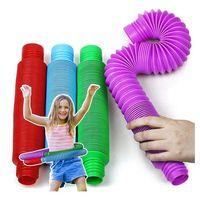 Colorido Fidget Pulsado Push Tube Coil Magical Juguetes Círculo Divertido Juguetes Early Development Educational Dobling Magical Figet Toy