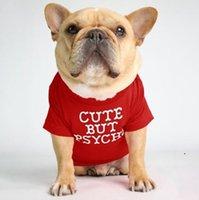 Haustier Hund Kleidung Welpen Baumwolle Turtkrett-shirt Katze Hund Kleidung T-shirt Hunde Hemd Mode Designs Alphabet Haustier Hund Kleidung 12Color DWC6048